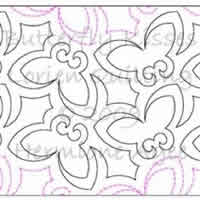 Digital Quilting Design Butterfly Kisses by Lorien Quilting.