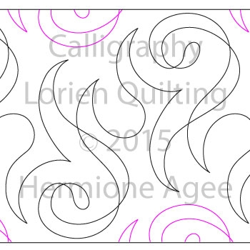 Digital Quilting Design Calligraphy by Lorien Quilting.
