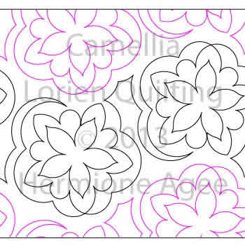 Digital Quilting Design Camellia by Lorien Quilting.