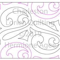 Charleston by Lorien Quilting. This image demonstrates how this computerized pattern will stitch out once loaded on your robotic quilting system. A full page pdf is included with the design download.
