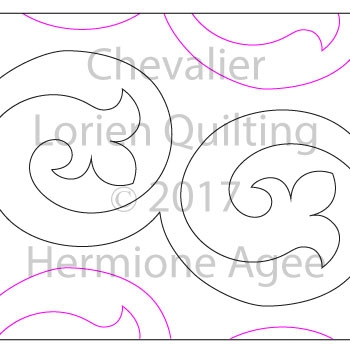 Digital Quilting Design Chevalier by Lorien Quilting.