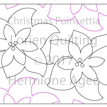 Digital Quilting Design Christmas Poinsettia by Lorien Quilting.
