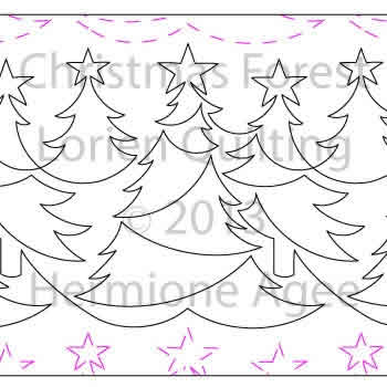 Digital Quilting Design Christmas Forest by Lorien Quilting.