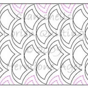 Digital Quilting Design Clamshells by Lorien Quilting.