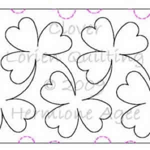 Digital Quilting Design Clover by Lorien Quilting.