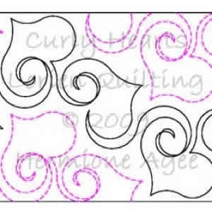 Digital Quilting Design Curly Hearts by Lorien Quilting.