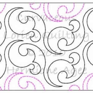 Digital Quilting Design Curvaceous by Lorien Quilting.