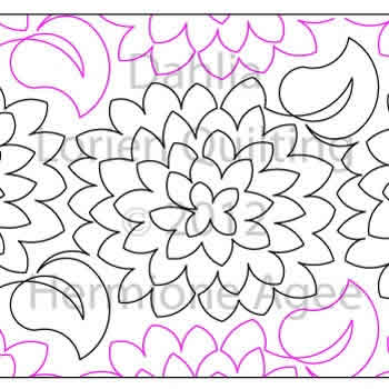 Digital Quilting Design Dahlia by Lorien Quilting.