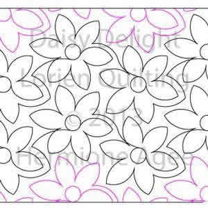 Digital Quilting Design Daisy Delight by Lorien Quilting.