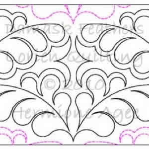 Digital Quilting Design Damask Feathers by Lorien Quilting.