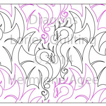Digital Quilting Design Dragons by Lorien Quilting.