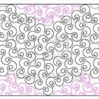 Digital Quilting Design Dragon's Breath by Lorien Quilting.