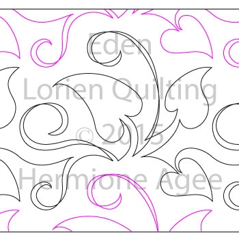 Digital Quilting Design Eden by Lorien Quilting.