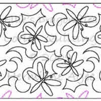 Digital Quilting Design Ellie's Dragonflies by Lorien Quilting.