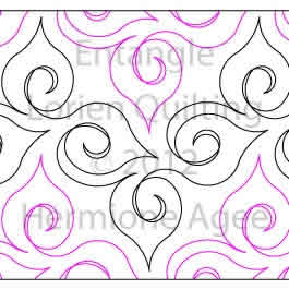 Digital Quilting Design Entangle by Lorien Quilting.