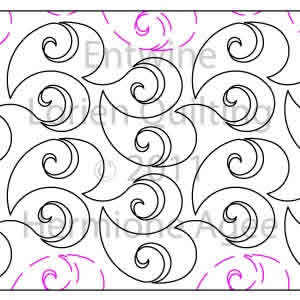 Digital Quilting Design Entwine by Lorien Quilting.