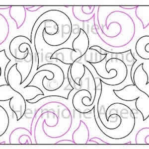 Digital Quilting Design Espalier by Lorien Quilting.