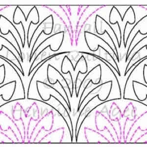 Digital Quilting Design Fantail by Lorien Quilting.