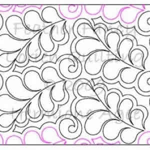 Digital Quilting Design Feather Fancy by Lorien Quilting.