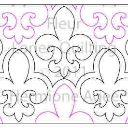 Digital Quilting Design Fleur by Lorien Quilting.