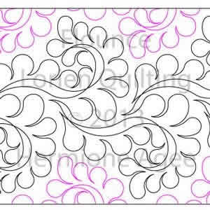 Digital Quilting Design Flounce by Lorien Quilting.