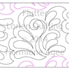 Digital Quilting Design Flutter by Lorien Quilting.