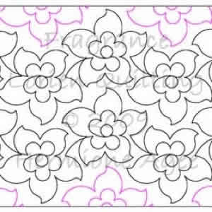 Digital Quilting Design Fragrance by Lorien Quilting.