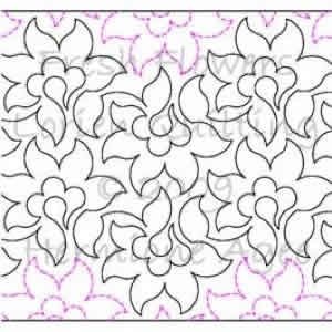 Digital Quilting Design Fresh Flowers by Lorien Quilting.