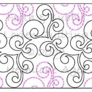 Digital Quilting Design Froth & Bubble by Lorien Quilting.