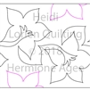 Digital Quilting Design Heidi by Lorien Quilting.
