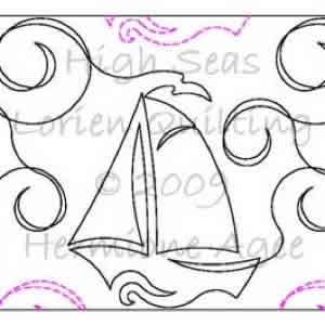 Digital Quilting Design High Seas by Lorien Quilting.