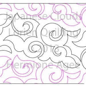 Digital Quilting Design Japanese Clouds by Lorien Quilting.