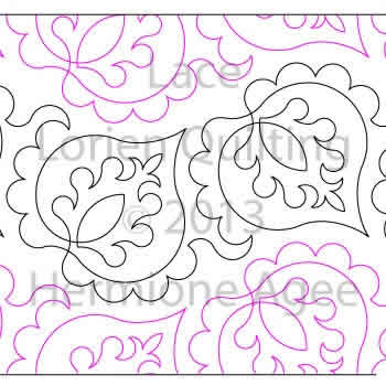 Digital Quilting Design Lace by Lorien Quilting.