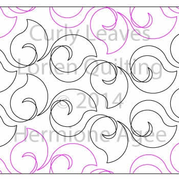 Digital Quilting Design Curly Leaves by Lorien Quilting.