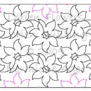 Digital Quilting Design Lorien Flowers by Lorien Quilting.