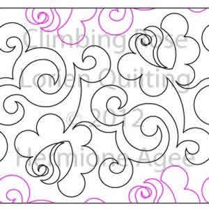 Lorien s Climbing Rose Lorien Quilting Digitized Quilting Designs