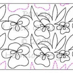 Digital Quilting Design Lorien's Pansy by Lorien Quilting.