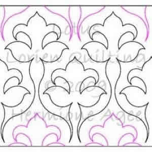 Digital Quilting Design Lotus by Lorien Quilting.