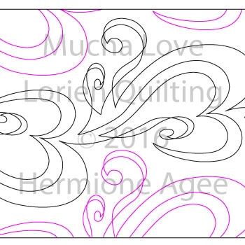 Digital Quilting Design Mucha Love by Lorien Quilting.