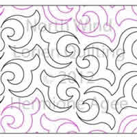 Digital Quilting Design North Wind by Lorien Quilting.