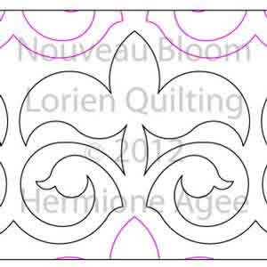 Digital Quilting Design Nouveau Bloom by Lorien Quilting.
