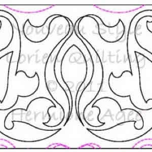 Digital Quilting Design Nouveau Style by Lorien Quilting.