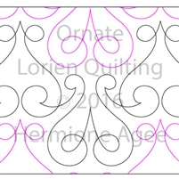 Digital Quilting Design Ornate by Lorien Quilting.