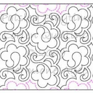 Digital Quilting Design Paisley Playtime by Lorien Quilting.