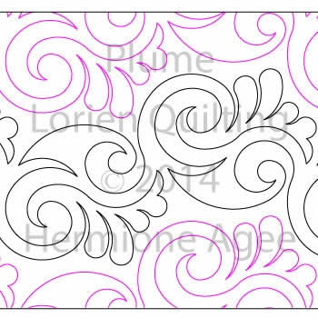 Digital Quilting Design Plume by Lorien Quilting.