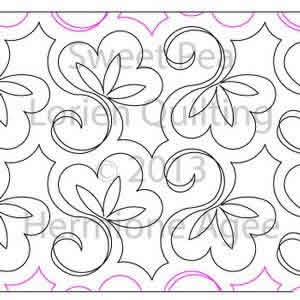 Digital Quilting Design Sweet-Pea by Lorien Quilting.