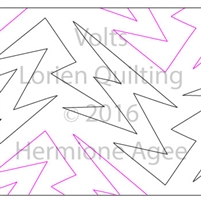 Digital Quilting Design Volts by Lorien Quilting.