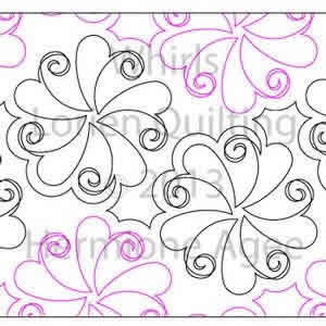Digital Quilting Design Whirls by Lorien Quilting.