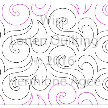 Digital Quilting Design Wisp by Lorien Quilting.