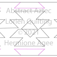 Abstract Aztec by Lorien Quilting. This image demonstrates how this computerized pattern will stitch out once loaded on your robotic quilting system. A full page pdf is included with the design download.